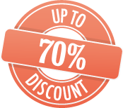 Up to 70% discounts